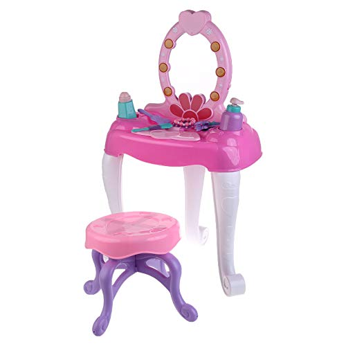 BENGKUI Tavolo da Trucco per Trucco di Bellezza per Bambini Gioco di finzione Set di...