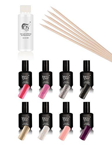 Kit Manucure Vylet-Nails Premium Vernis Semi Permanent, Kit Professionnel de 10 Pièces