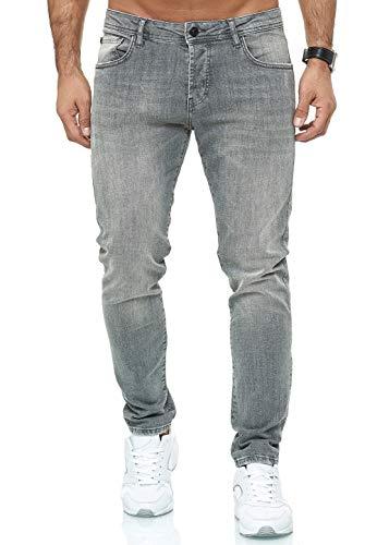 Jeans für Herren Hose Slim Fit Denim Stonewashed Arena B Grau W36 L32