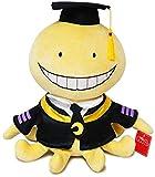Blackflame Manga Peluche Koro Sensei Salle de Cours Personnage Poulpe Peluche Jouet Poupée Drôle Farci Jaune Dessin Animé Jeter Oreiller Collection Cadeaux (Type 1 30 cm)