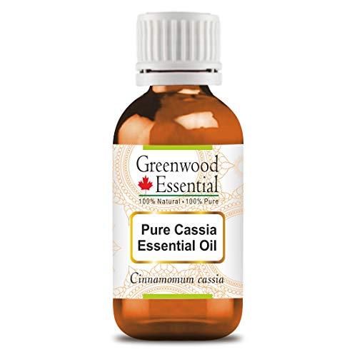 Olio essenziale di cassia puro essenziale di Greenwood (Cinnamomum cassia) 100% naturale distillato a vapore di grado terapeutico 30 ml (1,01 oz)