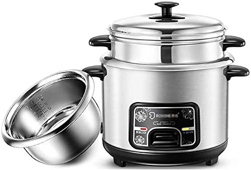 Cocedor de arroz para microondas (2 litros, 400 W/220 V) Home Intelligent Aislante multifunción de acero inoxidable, jarra de cuchara de vapor y medición de la taza de taza, 3 L ~ 500 W