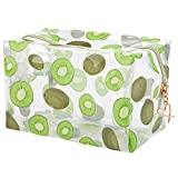 DDILKE Fruit Transparent Makeup Bags for Women Girls, Clear Travel Cosmetic Bag Toiletry Organizer Pouch Cute Print Storage bag (Kiwi Style)
