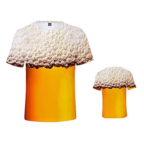 Scopri offerta per weiwei Manica Corta Birra T-Shirt 3D Stampa Beer Tees Kids,Tall 110cm