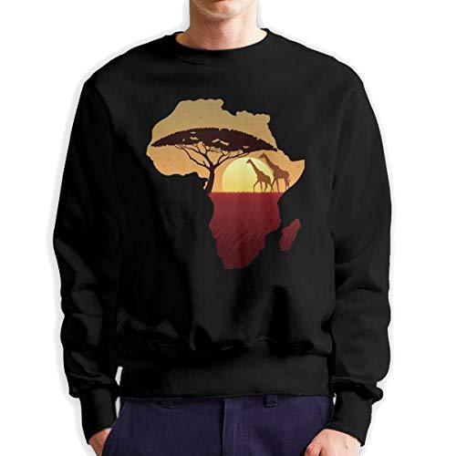 Sunwan Afrikaanse Safari Giraffe Sleeve Lange Shirt Top Tops Casual Sweatshirt Blouse Tee Shirts Tees Klassieke Crewneckpatchwork korte tiener grote blouses