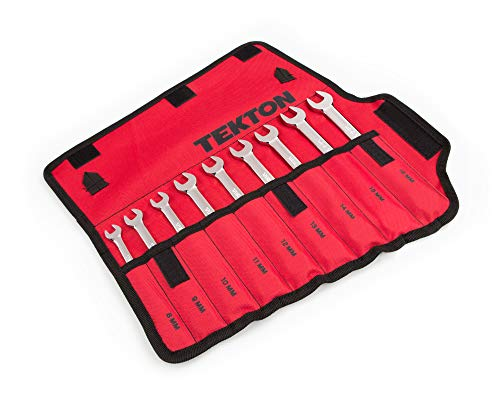 TEKTON Flex Ratcheting Combination Wrench Set, 9-Piece (8-16 mm) - Pouch | WRN57187