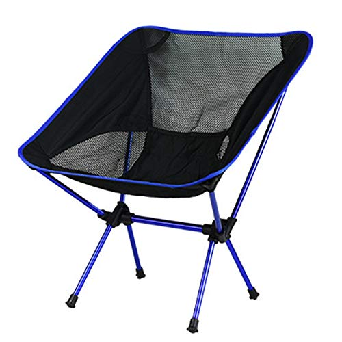 SovelyBoFan Silla de playa de luna al aire libre plegable silla portátil ultra ligera de aluminio silla de pesca camping plegable mesa y silla ocio simple