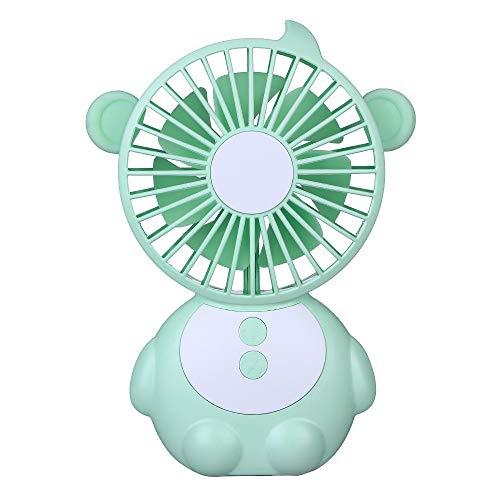 LDDCUTE USB-ventilator, appelvorm, tafellamp, design, draagbare mini-ventilator, kleine heroplaadbare stille ventilator, voor gezinnen, school, kantoren, kinderwagen, camping, blauw