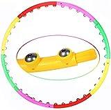 WXFGR Hula Fitness Hoop Masajeador magnético para ejercicio físico extraíble de ocho secciones de espuma Hula Ring Fitness Hoop para adolescentes y adultos Ejercicios Danza Fitness (tamaño: 95 cm)