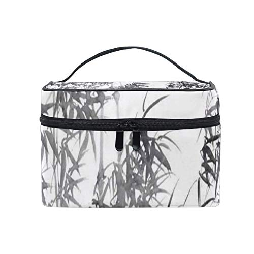 Trousse de maquillage Bamboo Ink Ink Cosmetic Bag Portable Large Toiletry Bag for Women/Girls Travel