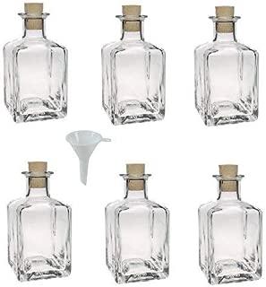 6 Unidades, tap/ón de Rosca, 500 ml, rellenables, Incluye Embudo de 9,5 cm Botellas de Cristal Viva Haushaltswaren
