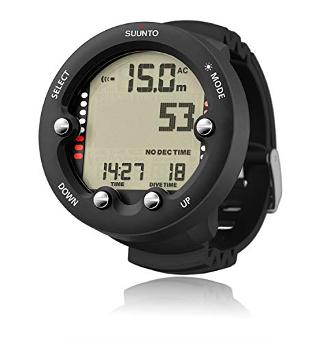 SUUNTO Zoop Novo Wrist Scuba Diving Computer, Black, Without USB