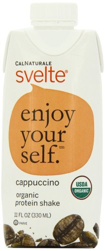 CalNaturale Svelte Organic Protein Shake, Cappuccino, 11 Ounce Aseptic Boxes (Pack of 12)