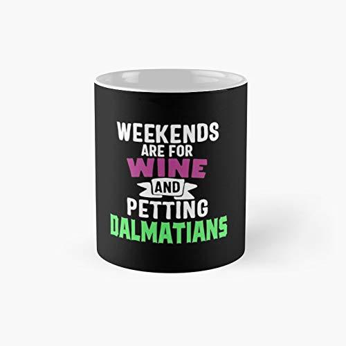Klassische Tasse für Wein und Dalmatiner, lustiges Geschenk, 325 ml