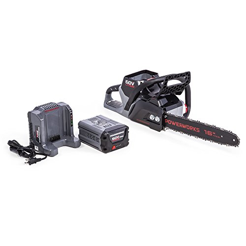 POWERWORKS 60V Brushless 16-inch Chainsaw, 2.5Ah Battery and Charger Included CS60L2510PW