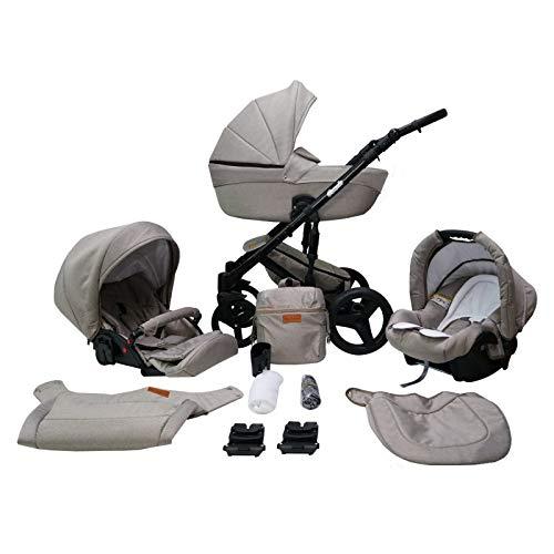 Saintbaby RetroCochecito de Bebé Trio Silla de Coche Grupo 0 Plus Isofix 3en1 2en1 4en1 Comodo Mud 09 3in1 con Silla de coche