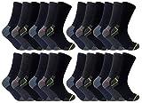 Photo de Ultimate Work Socks 3, 6, 12, 24 Paires Chaussettes Travail Lot Hommes Coton 39-45 eur (24 Paires)
