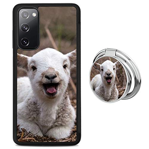 Newly Case for Samsung Galaxy S20 FE 5G with Goat Pattern Design,(for Men and Women),Ring Kickstand and Black TPU Silicone Anti-Slip Cover Case for Samsung Galaxy S20 FE 5G