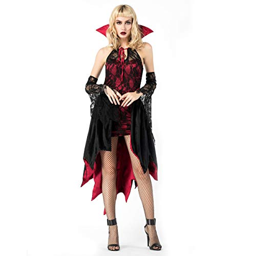MIAO Disfraz De Halloween rol Adulto Disfraz Femenino Bruja Bruja Discoteca DS Ropa,Black,OneSize