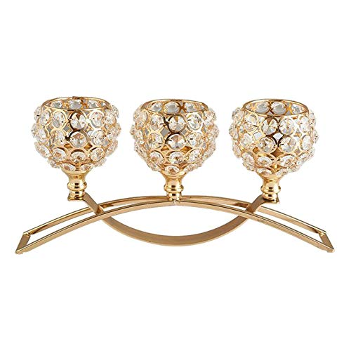 candelabro cristal de 3 brazos de la marca Fenteer