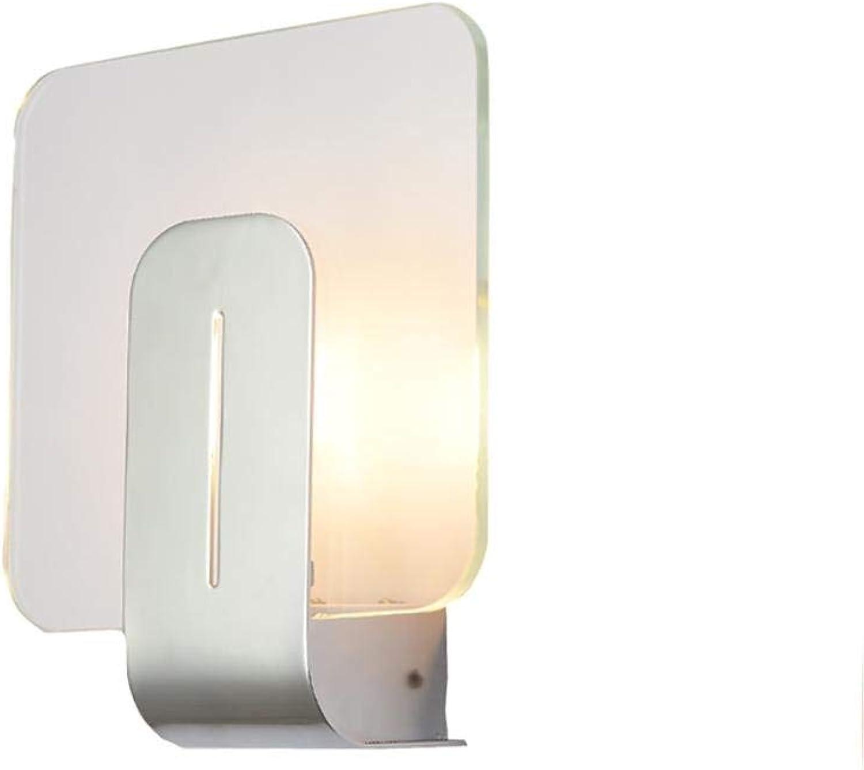 Einfache metall wandleuchten, led eisen glas beleuchtung mini hngelampe wandleuchte nordic restaurant gang treppe Wandlampen (Edition   Warm light)
