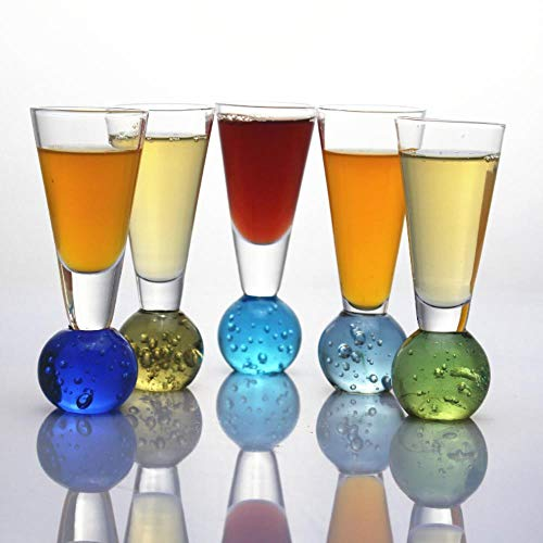 WEDER Glass V Cup Clear Cocktail Wine Cup Whiskey Champagne Glass for Wedding Party for NightBar Tools 4pcs/Lot,48ml