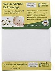 Grünspecht 163-00 - Funda Impermeable para Cama (50 x 70 cm), Color Blanco