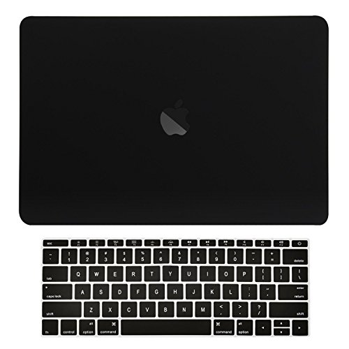 TOP CASE MacBook Pro 13 inch Case 2019 2018 2017 2016 Release Model: A1708 Without Touch Bar, 2 in 1 Signature Bundle Rubberized Hard Case + Keyboard Cover Compatible MacBook Pro 13', Black
