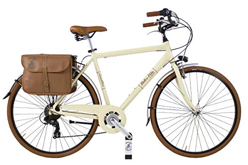 Canellini Via Veneto By Bicicletta Bici Citybike CTB Uomo Vintage Retro Dolce Vita Alluminio Panna (58)