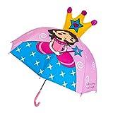 VIccoo Paraguas para niños Niños Niñas Dibujos Animados con Orejas de Animales Paraguas Princesa Personalizada Mango Largo Seguro Luz Paraguas portátil - 7