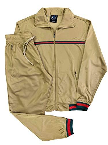 Fort Men's Fashion Wear/Gym/Sportswear/Active Track Suit (Beige, 4XL)