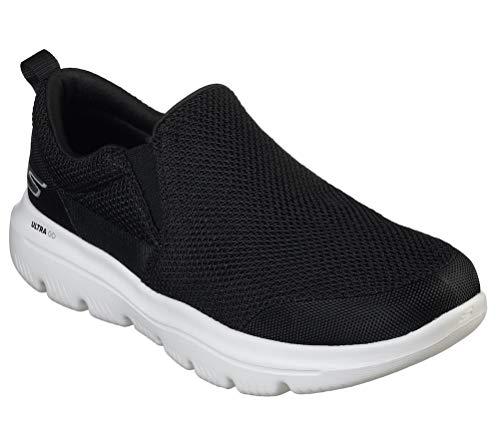 Skechers Men's GO Walk Evolution Ultra-Impeccable Sneaker, Black/White, 10