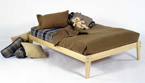 Queen Size - Solid Wood Platform Bed Frame - Clean, Unfinished, Chemical Free Pine - Made in USA
