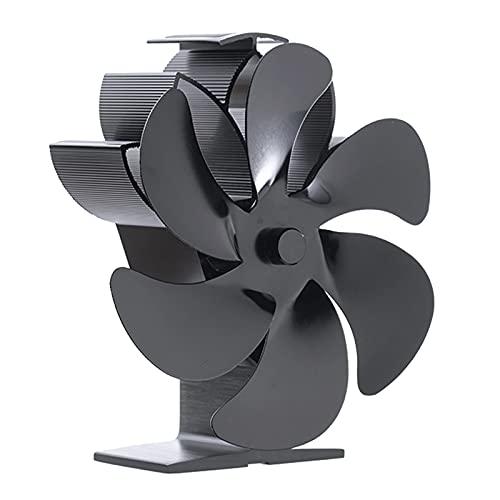 Baoblaze Ventilador de Estufa de 6 aspas accionado por Calor, Respetuoso con el Medio Ambiente, distribución de Calor, circulación de Aire, Ventilador de