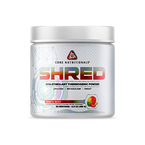 Core Nutritionals Platinum Shred Non-Stimulant Thermogenic Powder 50 Servings (Tropic Heat)