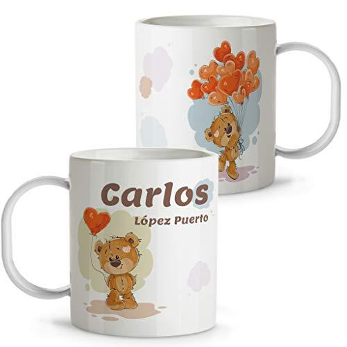 LolaPix Taza Personalizada. Tazas Personalizadas. Tazas Infantiles plástico. Varios diseños. Osito
