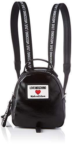 Love Moschino Damen Precollezione ss61 Rucksack Sporty Label, Schwarz, Medium