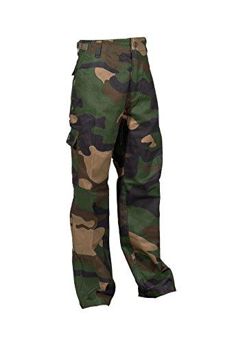 Robuste + Komfortable US Style Kinder Jungen Mädchen Rangerhose Freizeithose Kampfhose viele verschiedene Farben S-XXXL (L (146/152), Woodland)