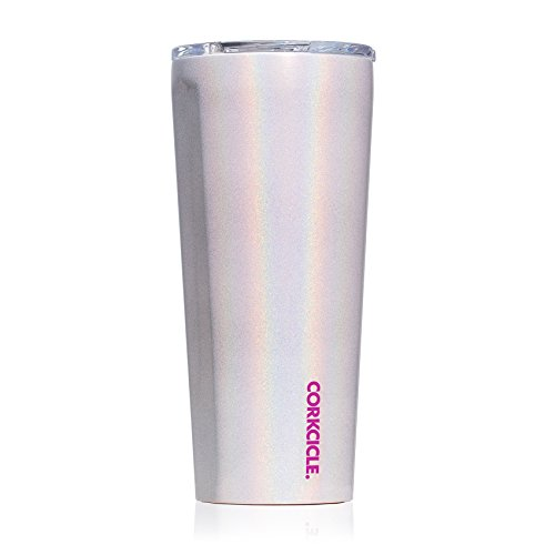 Corkcicle 24oz Tumbler - Classic Collection - Triple Insulated Stainless Steel Travel Mug, Sparkle Unicorn Magic