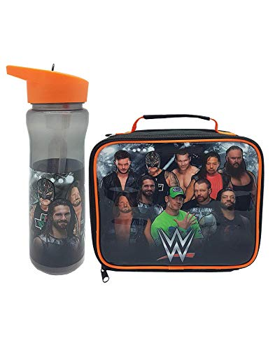 WWE Lunch Bag & Water Bottle Set Wrestling Food Container One Size