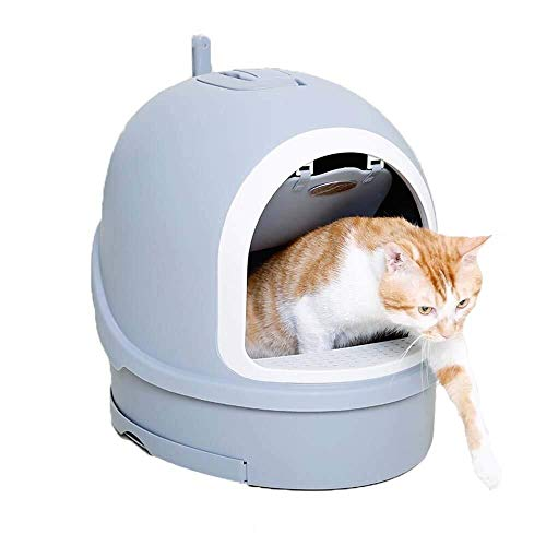Maisons de toilette pour chats Cat bac à litière, entièrement Clos Toilette Cat Design Double-Couche Anti-éclaboussures et Déodorant 16 * 18 Pouces