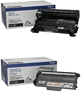 Brother Printer DR720 Drum Unit and Brother TN750 High Yield Toner Cartridge Bundle
