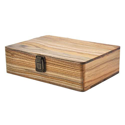 Bonarty Caja De Madera Cigarrillo Bandeja Rodante Almacenamiento De Papel Organizador De Tabaco Y Hierbas