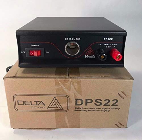 Delta DPS22 22 Amp 12-13.8v AC/DC Ultra Small Power Supply Ham CB Radio