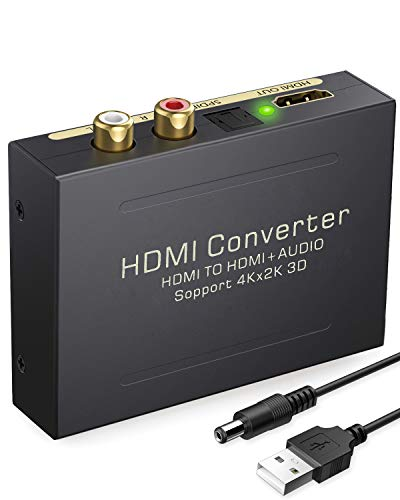 Best Review Of eSynic 4K HDMI Audio Extractor HDMI to HDMI + Optical TOSLINK SPDIF + Analog RCA L/R ...