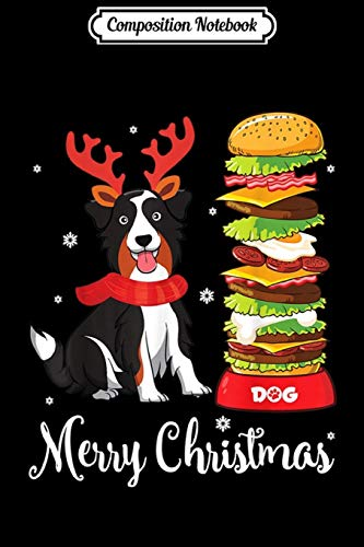 Composition Notebook: Australian Shepherd Reindeer Hat & Dog Food Merry Christmas Journal/Notebook Blank Lined Ruled 6x9 100 Pages