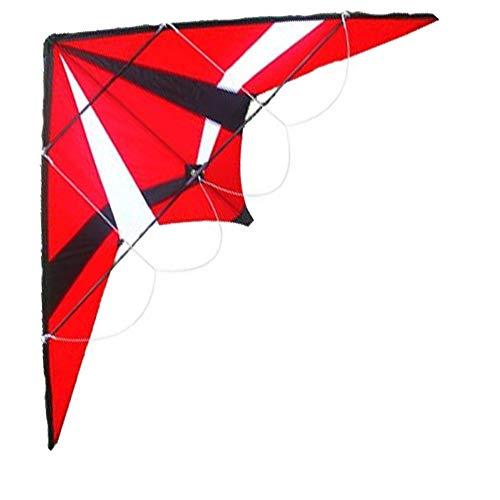 TX GIRL 72-Zoll-Power-Lenkdrachen Dual Line Triangle Kite Mit Handgriff Und Linie Gute Fliege Spielzeug (Size : 72 Inch)
