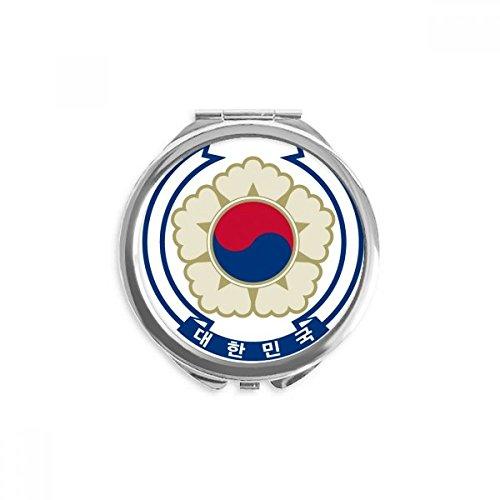 DIYthinker corée ronde nationale emblem miroir pays maquillage de poche à la main portable 2,6 pouces x 2,4 pouces x 0,3 pouce Multicolore