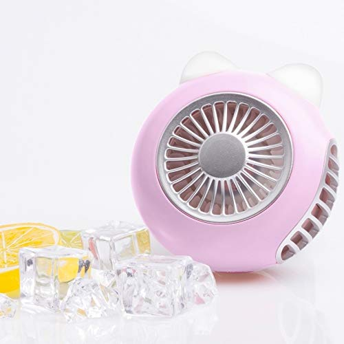 Ventilatori elettrici Desktop palmare LORDNINO SBF003 3W di Ricarica USB Ventilatore Elettrico Portatile con Wristband Magnetico, 3 Speed Control (Rosa) [ZRX] (Color : Pink)
