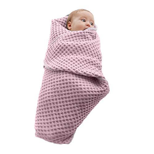 Baby Italy Copertina Neonato Multiuso in Cotone Biologico per Carrozzina Culla Lettino Passeggino Prodotto Italiano 70x90cm (Rosa)